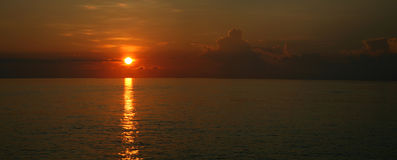 Sunset on the Indian Ocean royalty free stock images