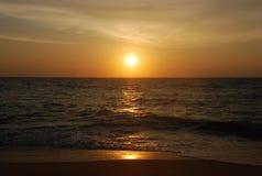 Sunset at Indian ocean. Sunset on beach, romantically, romantic Stock Image