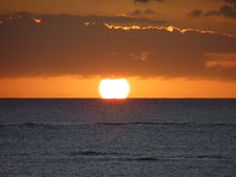 Sunset on the Indian Ocean Stock Image