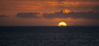 Sunset on Indian Ocean, Reunion Island Stock Images