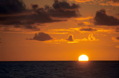 Sunset on Indian Ocean, Reunion Island Stock Photos