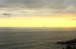 Sunset in the Indian ocean Stock Photography
