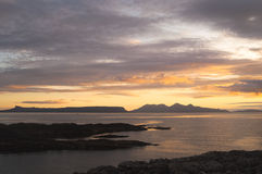 Sunset, Inner Hebrides, Eig, Rum, Royalty Free Stock Images