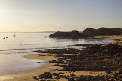 Sunset at Inner Hope, Hope Cove, Devon, England Stock Photography