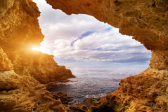 Free Sunset Into Grotto Royalty Free Stock Images - 18381219