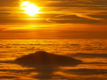 Sunset and inversion Stock Image