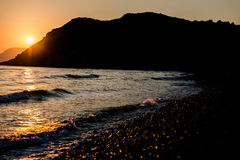 Sunset at ionian sea Royalty Free Stock Photos