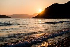 Sunset at ionian sea Royalty Free Stock Image