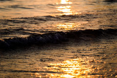 Sunset at ionian sea Royalty Free Stock Images
