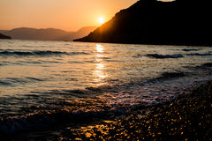 Sunset at ionian sea Royalty Free Stock Photography