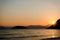 Sunset at ionian sea Stock Photo