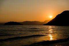 Sunset at ionian sea Royalty Free Stock Photo
