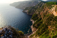 Sunset at ionian sea Stock Images