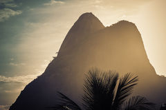 Sunset on Ipanema Beach in Rio de Janeiro Royalty Free Stock Images