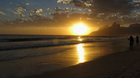 Sunset at Ipanema Beach, Rio de Janeiro. The sunset at Ipanema Beach during the summer, Rio de Janeiro, Brazil