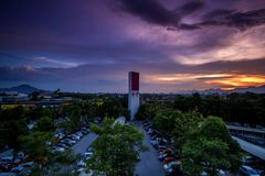 Sunset at Ipoh, Perak Malaysia Stock Photo