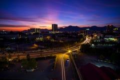 Sunset at Ipoh, Perak Malaysia Royalty Free Stock Images