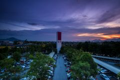 Sunset at Ipoh, Perak Malaysia Royalty Free Stock Photography