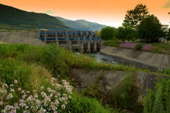 Irrigation canal summertime Stock Photos