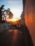 Sunset at Iruela, Andalusia, Spain Royalty Free Stock Photo