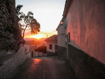 Sunset at Iruela, Andalusia, Spain Royalty Free Stock Photos