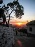 Sunset at Iruela, Andalusia, Spain Royalty Free Stock Photography