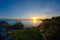 Sunset at ishigaki Bay Stock Photos