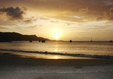 Sunset Isla Margarita. Venezuela, South America Stock Photos