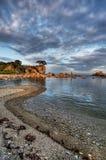 Sunset island 3 Stock Images