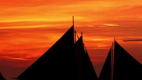Sunset on Island Boracay stock video footage