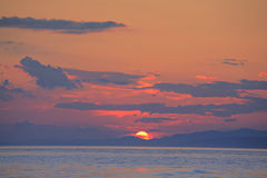 Sunset on the island of Brac Stock Photography