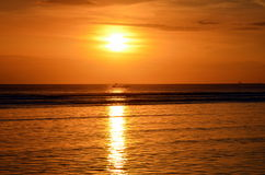 Sunset on the island of Gili Trawangan Royalty Free Stock Images