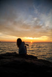 Sunset on the island of Langkawi Royalty Free Stock Photography