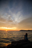 Sunset on the island of Langkawi Stock Photos