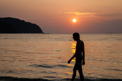 Sunset on the island of Langkawi Royalty Free Stock Images