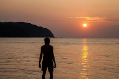 Sunset on the island of Langkawi Stock Image