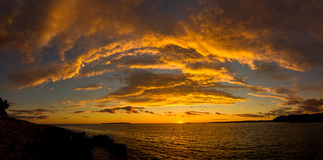 Sunset on the island Mali Losinj, Croatia. Sunset on the island of Mali Losinj, Croatia Royalty Free Stock Photos