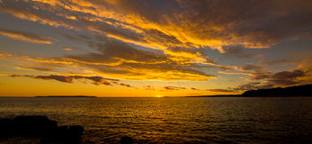 Sunset on the island Mali Losinj, Croatia. Sunset on the island of Mali Losinj, Croatia Stock Image