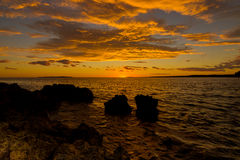 Sunset on the island Mali Losinj, Croatia. Sunset on the island of Mali Losinj, Croatia Royalty Free Stock Photography