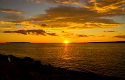 Sunset on the island Mali Losinj, Croatia. Sunset on the island of Mali Losinj, Croatia Stock Photography