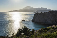 Sunset at the island of Milos. Royalty Free Stock Photos
