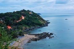 Sunset on the island of Phuket Royalty Free Stock Photos