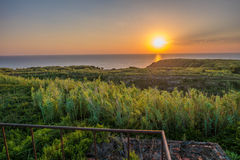 Sunset on the island of Susak. Stock Photo