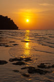 Sunset at island, Thailand Stock Photo
