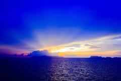 Sunset island Royalty Free Stock Photography