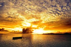 Sunset in the islands Royalty Free Stock Images