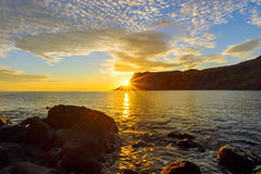 Sunset on the Isle of Skye Royalty Free Stock Photography