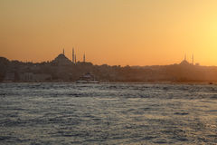 Sunset in Istanbul Stock Photos