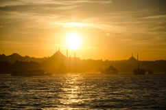 Sunset in Istanbul Stock Photography