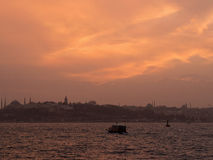 After Sunset at Istanbul Royalty Free Stock Photo